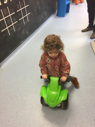 After the appointment, not a care in the world, and didn't want to leave the playroom!